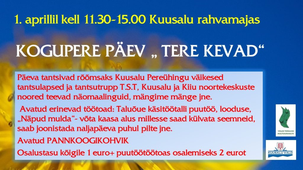 Tere kevad 2017
